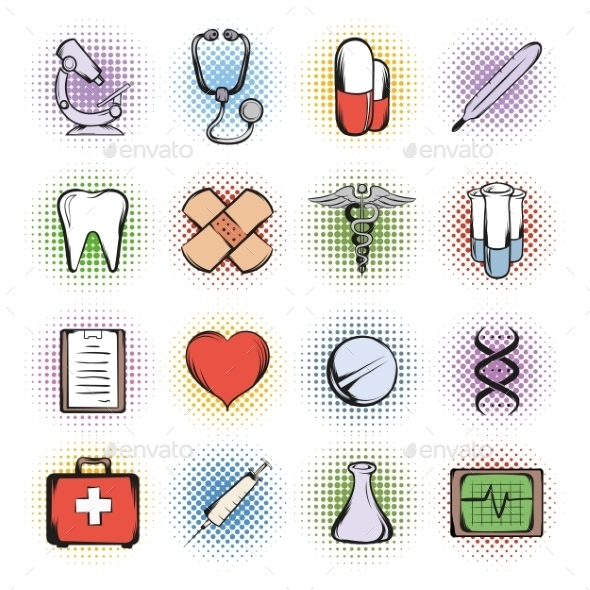 Medical Comics Icons - Miscellaneous Icons