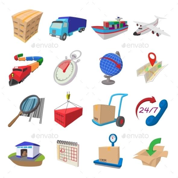 Logistics Cartoon Icons - Miscellaneous Icons