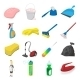 Cleaning Cartoon Icons - GraphicRiver Item for Sale