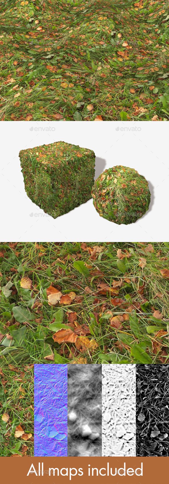 Autumn Weedy Grass Seamless Texture - 3DOcean Item for Sale