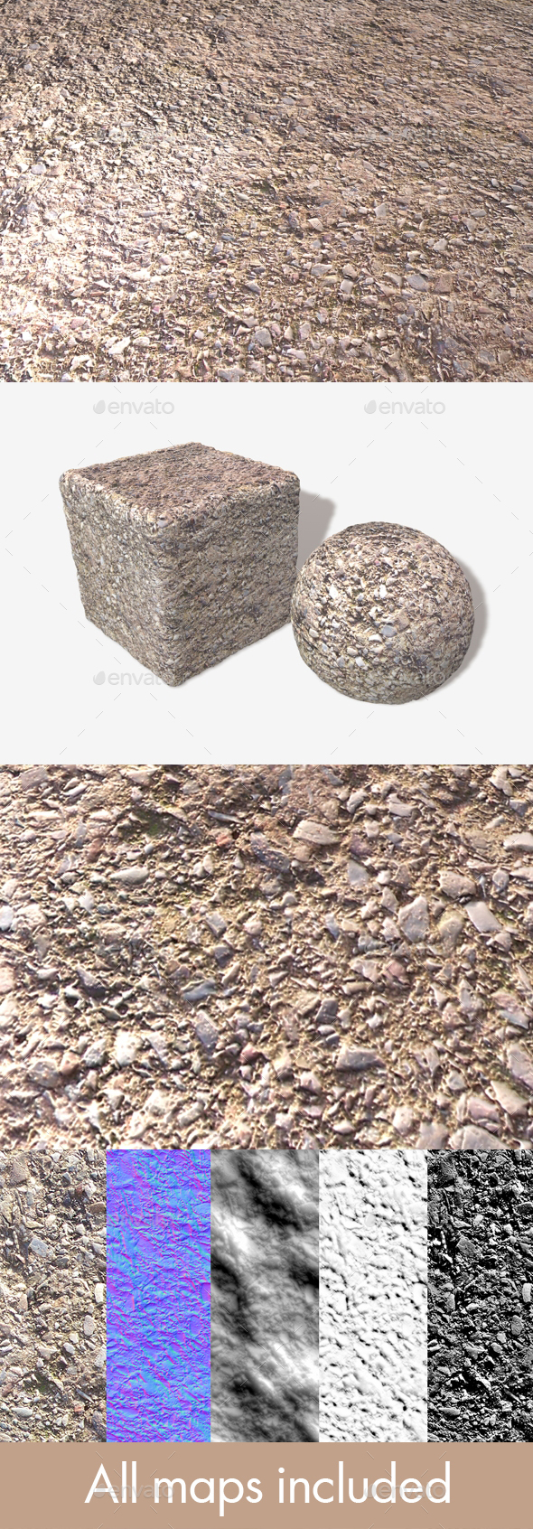 Rough Cement Seamless Texture - 3DOcean Item for Sale