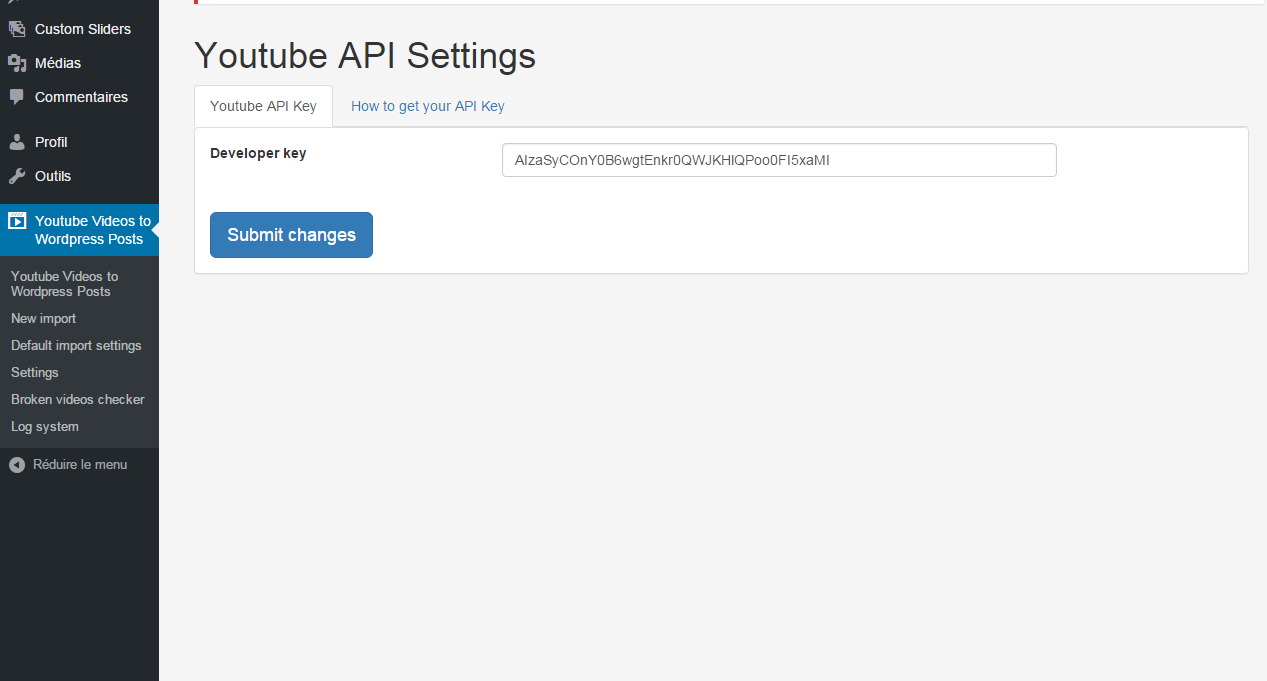 How to get your youtube api key youtube importer - Youtube Videos To Wordpress Posts