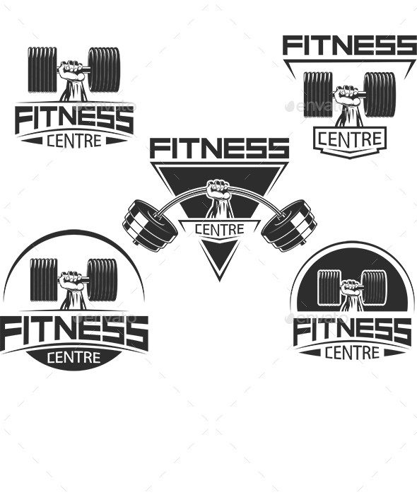 Icons for Bodybuilding and Fitness - Sports/Activity Conceptual
