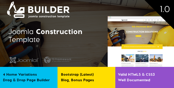 Builder – Joomla Construction Template