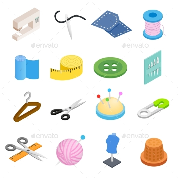 Sewing Isometric 3d Icon - Miscellaneous Icons