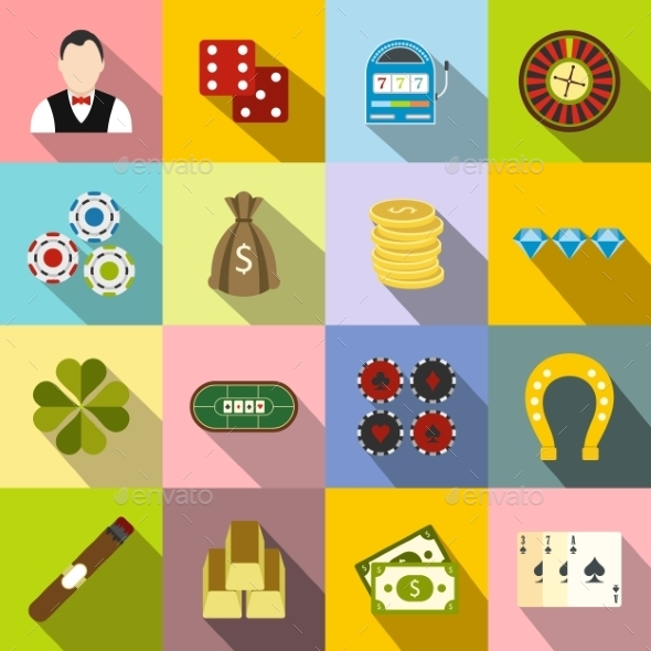 Casino Flat Icons - Miscellaneous Icons