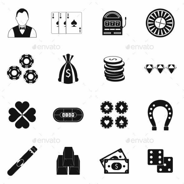 Casino Simple Icons - Miscellaneous Icons