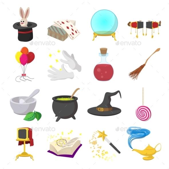 Magic Cartoon Icons Set - Miscellaneous Icons