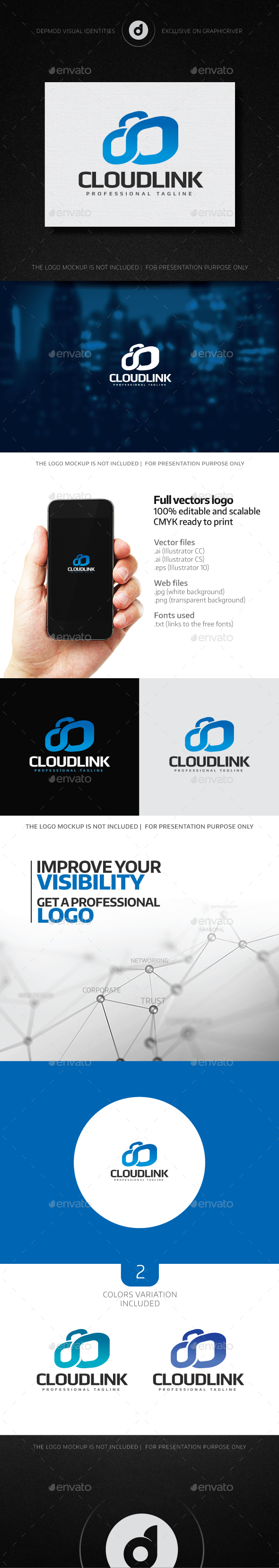 Cloud Link Logo - Objects Logo Templates