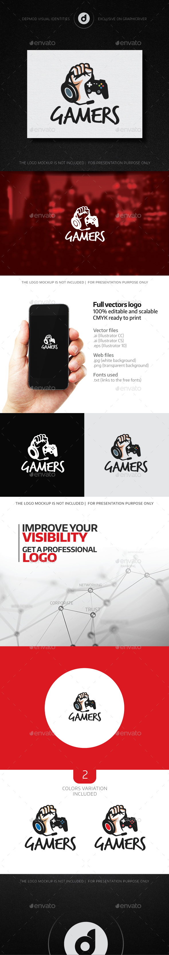 Gamers Logo - Humans Logo Templates