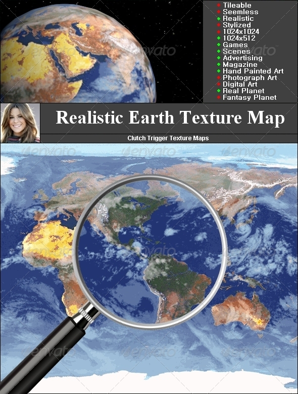 Earth Texture map - 3DOcean Item for Sale