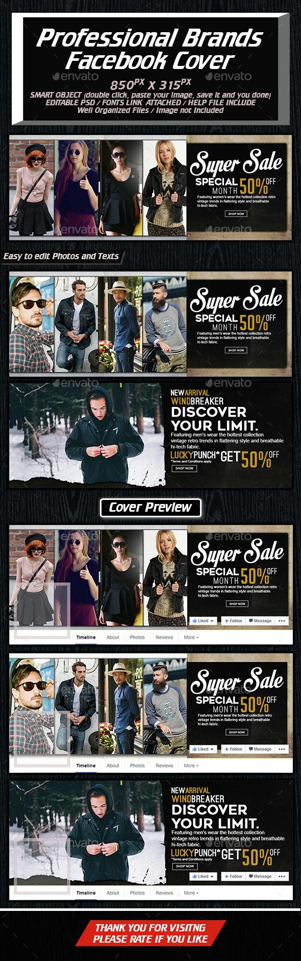 Facebook Cover For Pro Brands - Facebook Timeline Covers Social Media