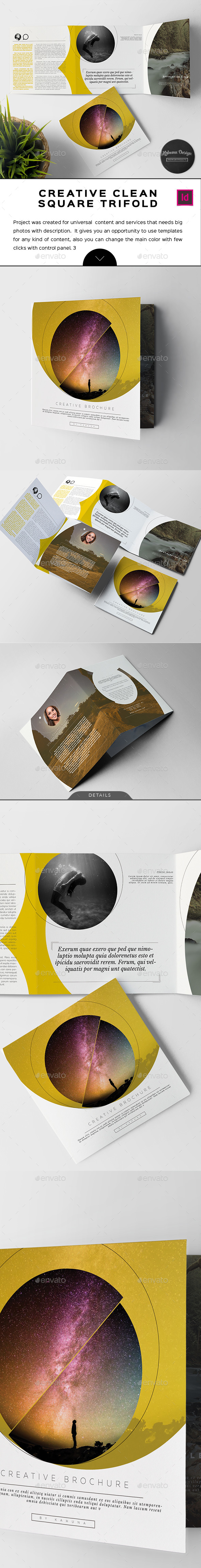 Creative Clean Square Trifold Brochure - Informational Brochures