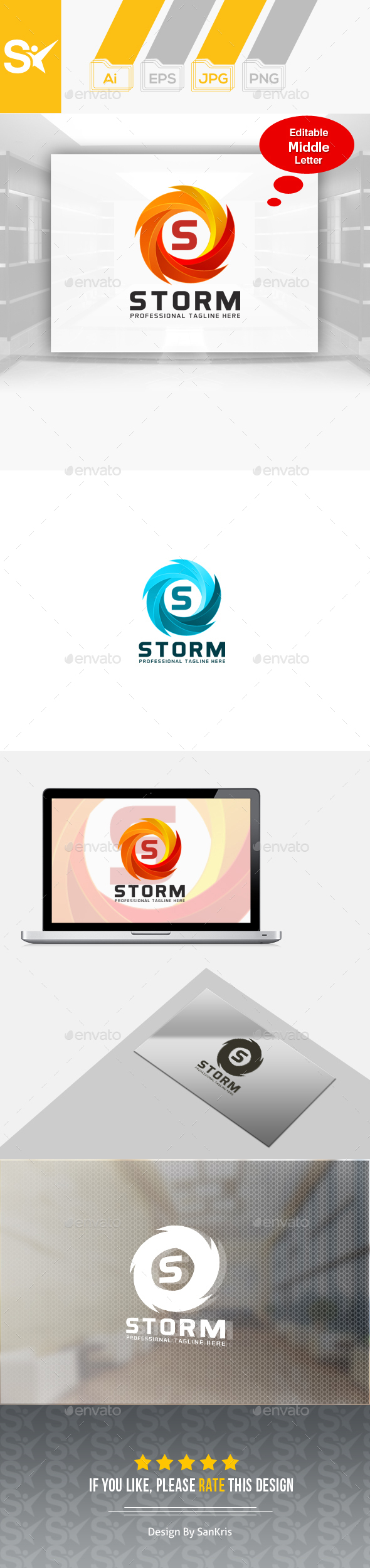 Storm Logo Template - Nature Logo Templates