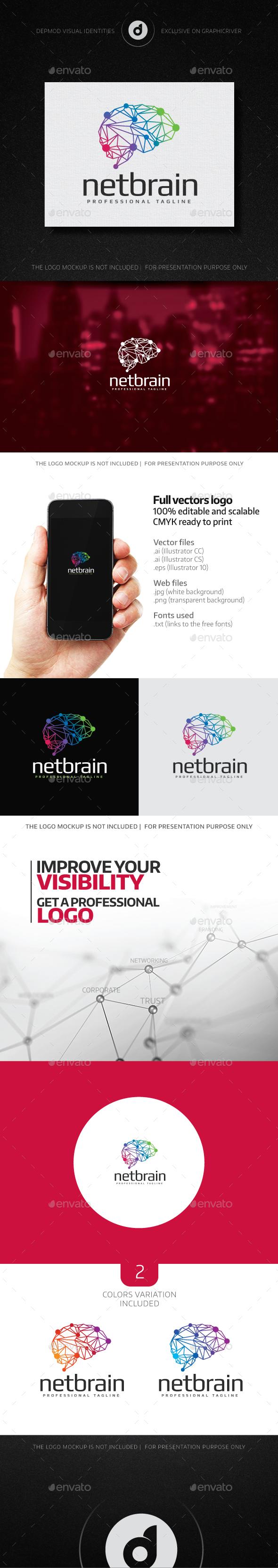 NetBrain Logo - Humans Logo Templates