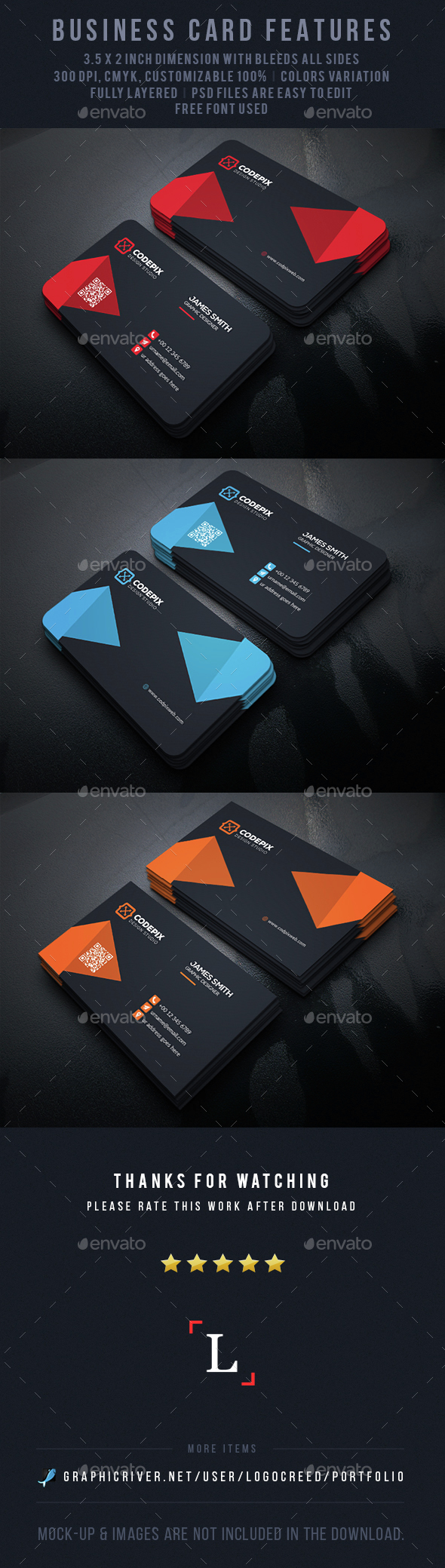 Shape Business Card - Business Cards Print Templates