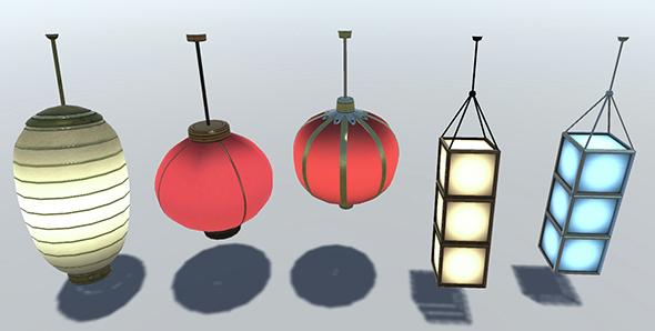 Chinese Lantern Set - 3DOcean Item for Sale