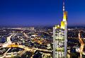 Illuminated cityscape of Frankfurt - PhotoDune Item for Sale