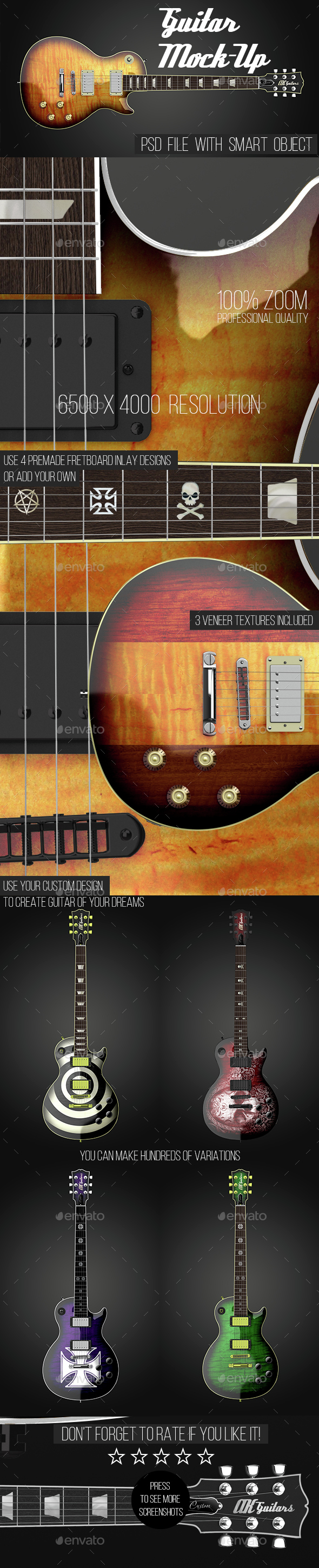 Guitar Mock-Up - Product Mock-Ups Graphics