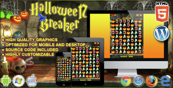 Download Sourcode              Halloween Breaker - HTML5 Match 3 Game nulled version