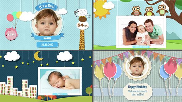 Baby Photo Album - Birthday by armanim | VideoHive
