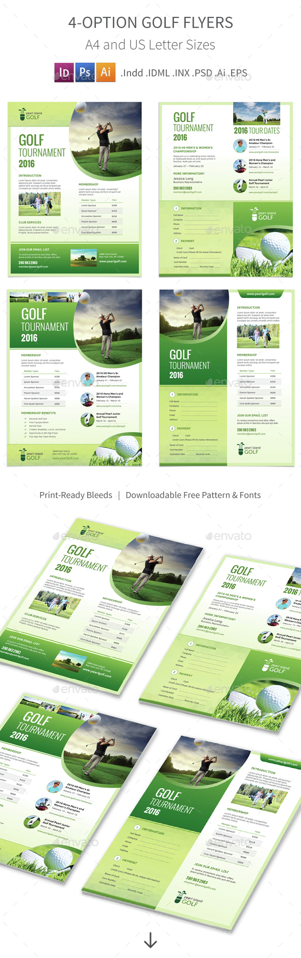 Golf Club Flyers – 4 Options - Corporate Flyers
