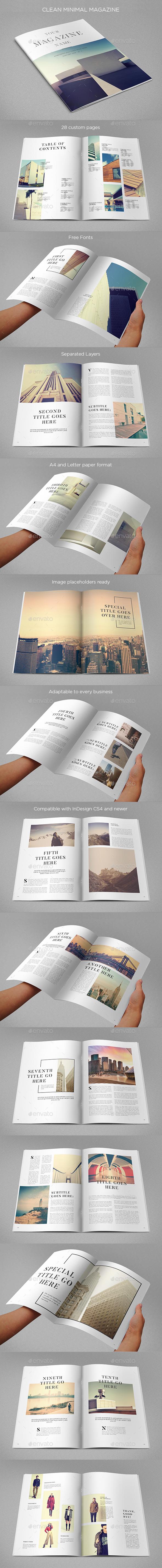 Clean Minimal Magazine - Magazines Print Templates
