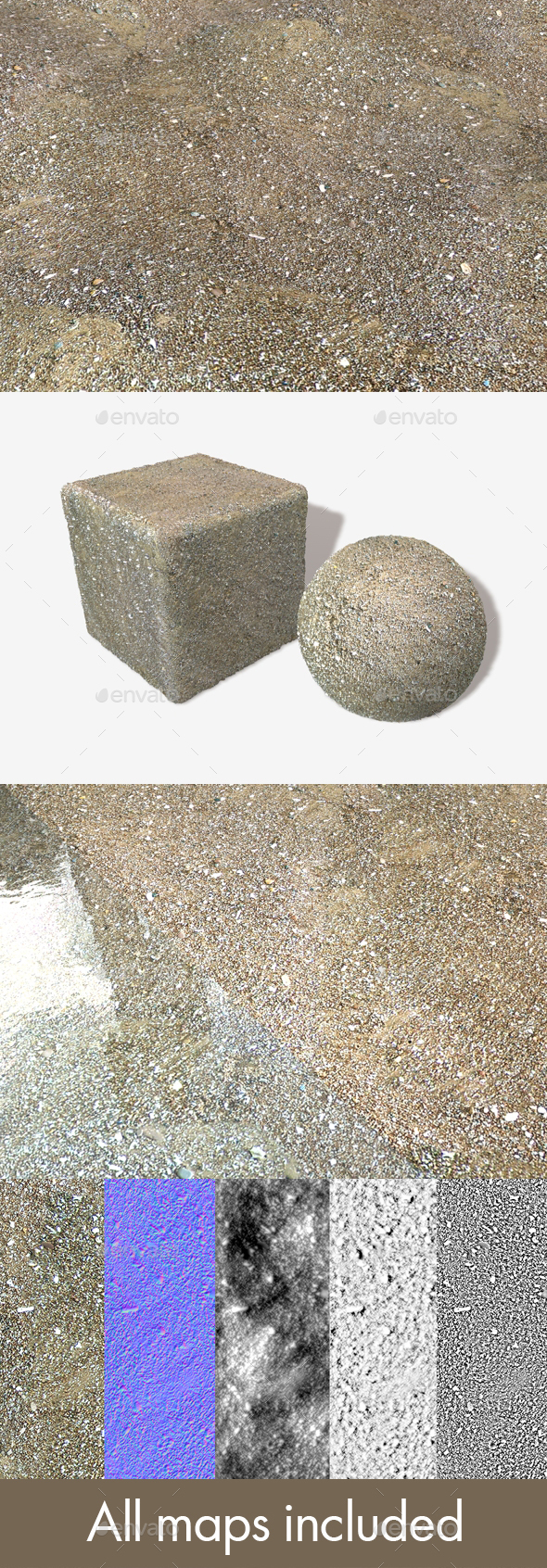 Damp Beach Seamless Texture - 3DOcean Item for Sale