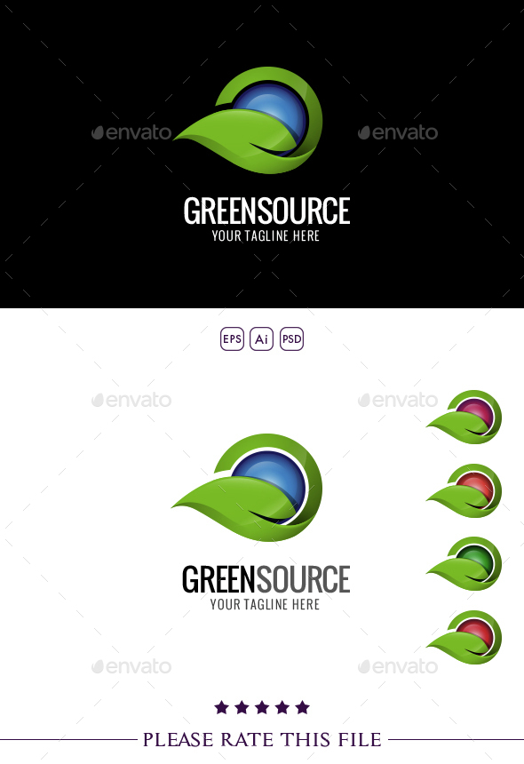 Leaf Logo - Nature Logo Templates