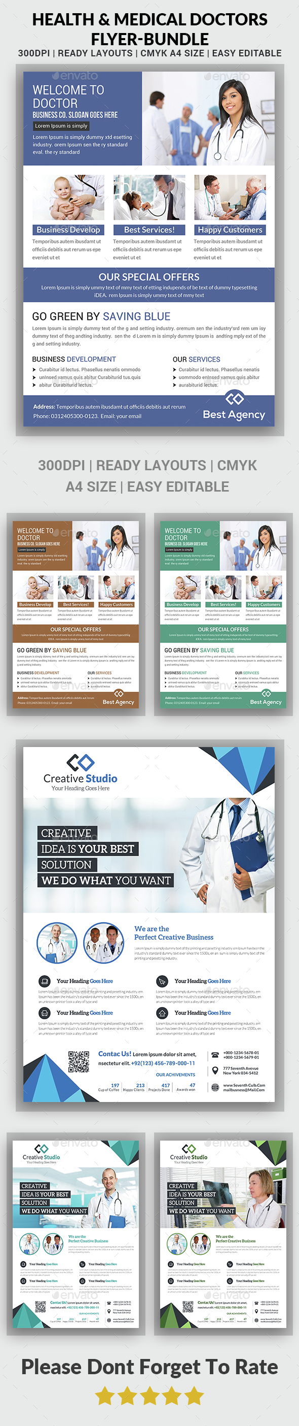 Medical Flyer Template - Bundle - Corporate Flyers