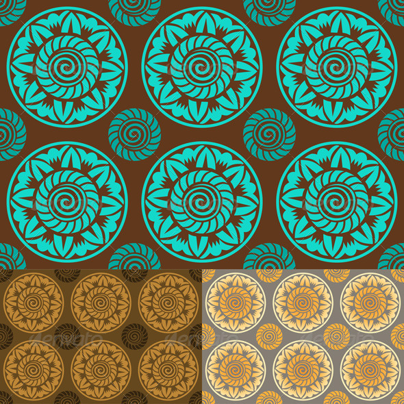 Vintage Seamless Abstract Pattern - Patterns Decorative