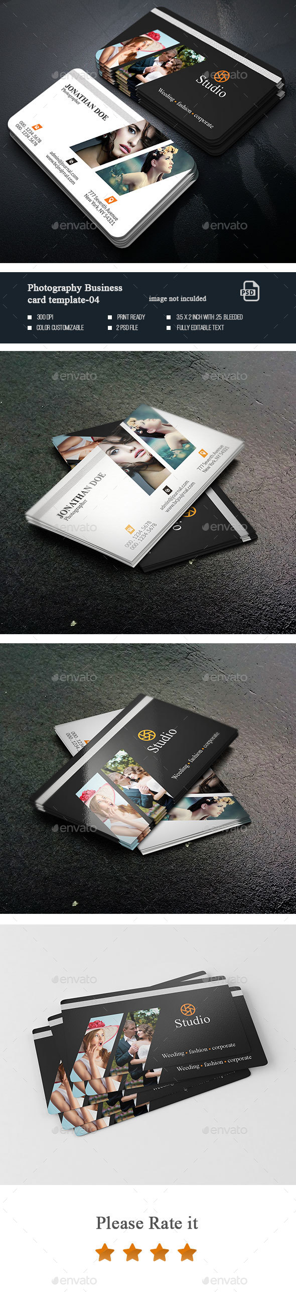 Photography  Business Card-04 - Business Cards Print Templates