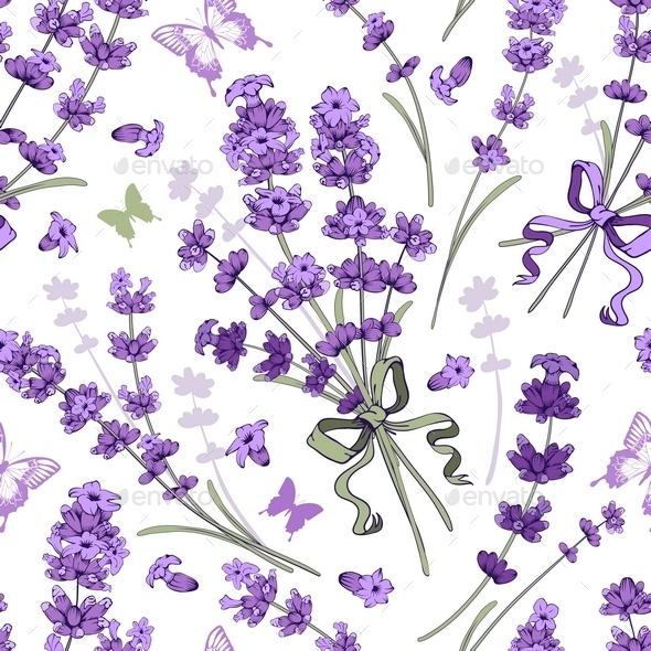 Lavender Seamless Pattern - Patterns Decorative
