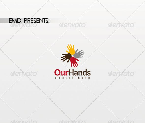 Our Hands Logo - Symbols Logo Templates