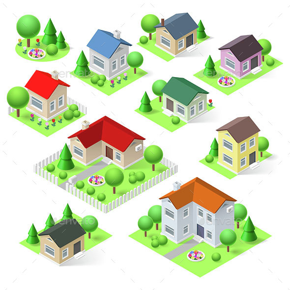 House Set - Buildings Objects