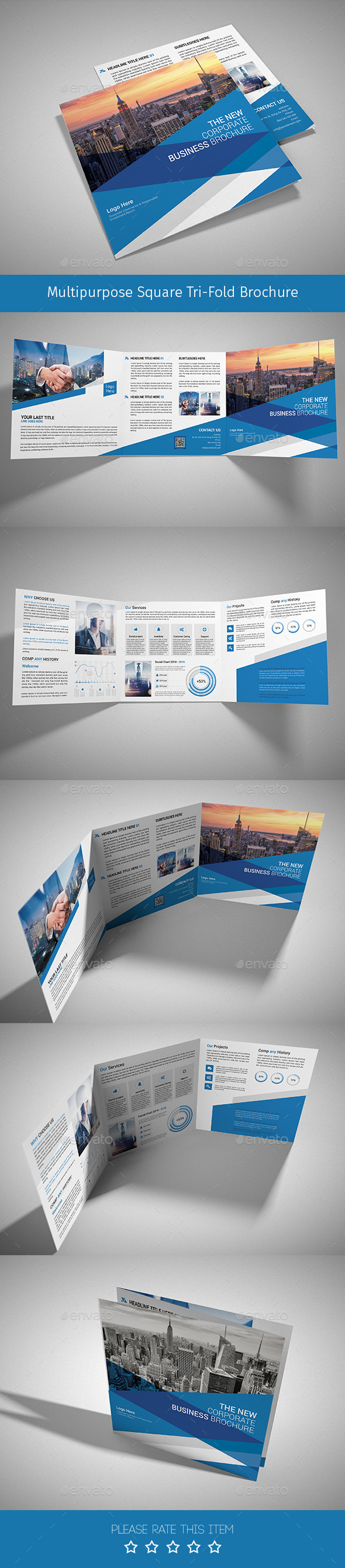 Corporate Tri-fold Square Brochure 05 - Corporate Brochures