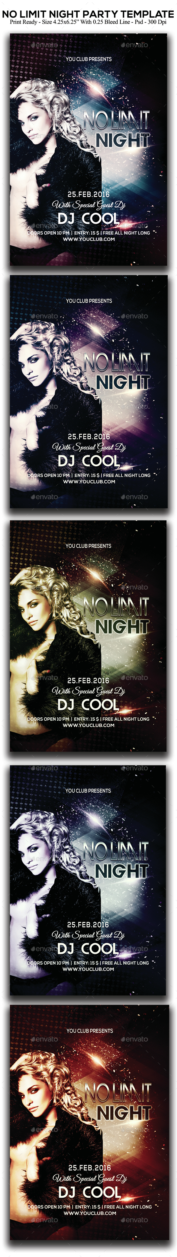 No Limit Night Party - Clubs & Parties Events