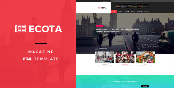 Ecota - Responsive Magazine & News HTML Template - Entertainment Site Templates