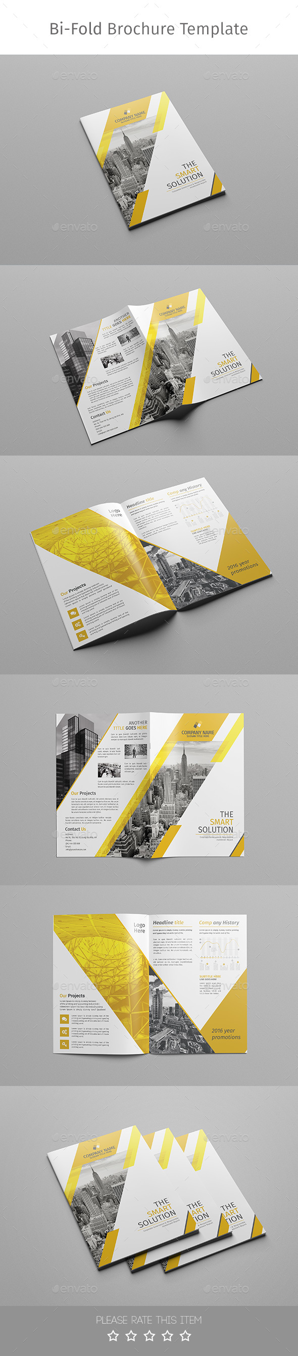 Corporate bi fold brochure multipurpose 02 by moverick for Corporate bi fold brochure template