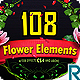 108 Flower Elements - VideoHive Item for Sale