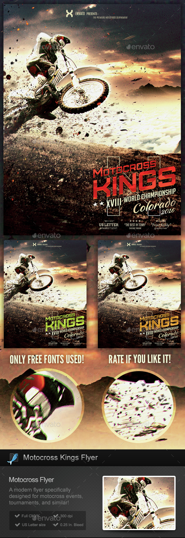 Motocross Kings - Motocross Flyer Template - Sports Events