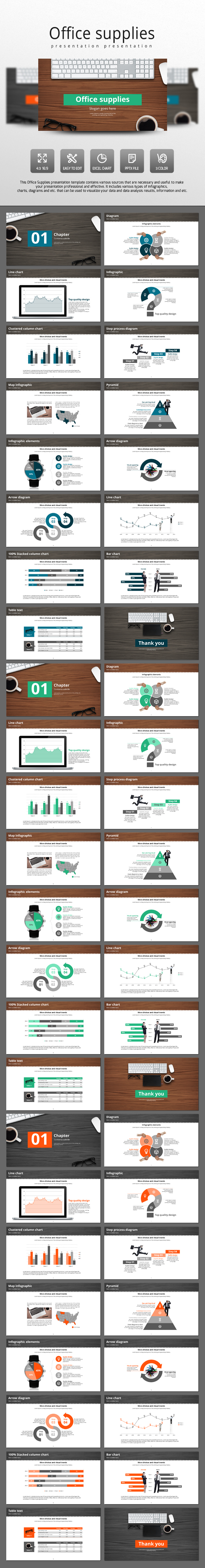 Office Supplies - PowerPoint Templates Presentation Templates