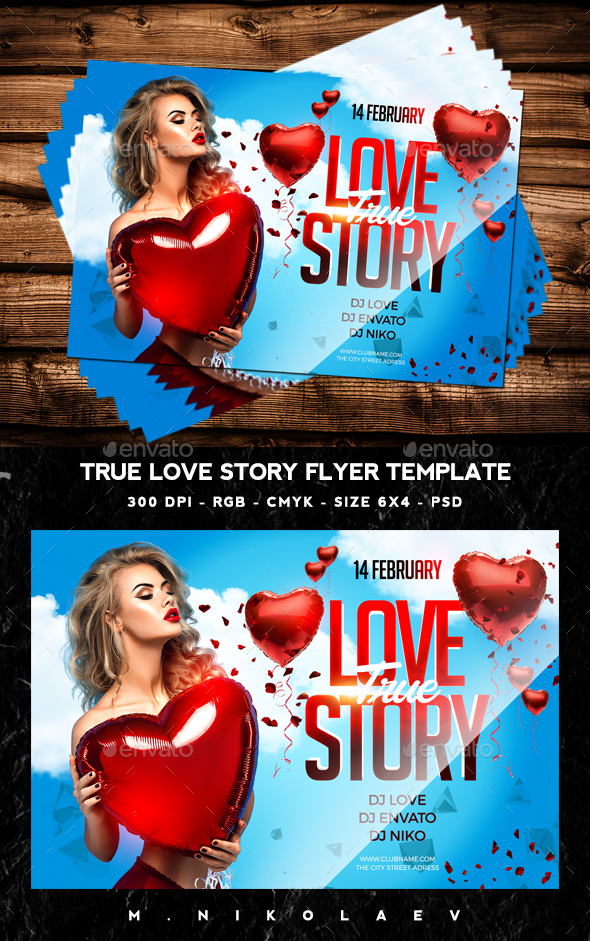 True Love Story Flyer - Clubs & Parties Events