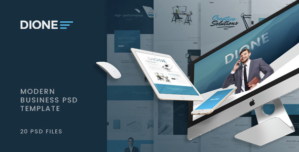 Dione – Enterprise PSD Template