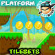 Forest Platformer  Game  Tilesets 21 - GraphicRiver Item for Sale