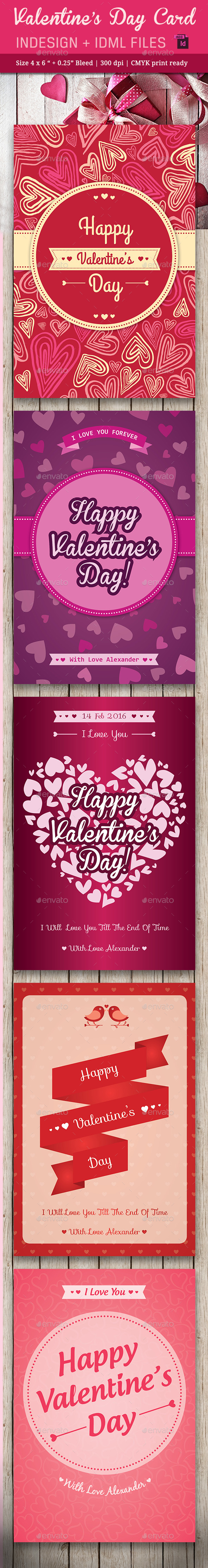 Valentine's Day Card Vol. 2 - Cards & Invites Print Templates