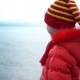 Child On Winter Sea Background - VideoHive Item for Sale