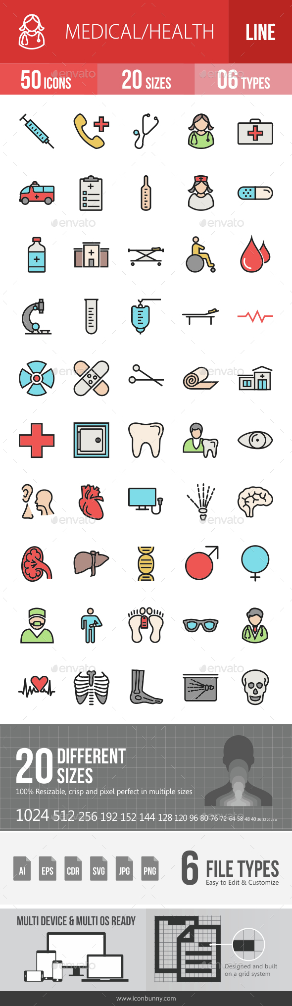 Medical Filled Line Icons - Icons