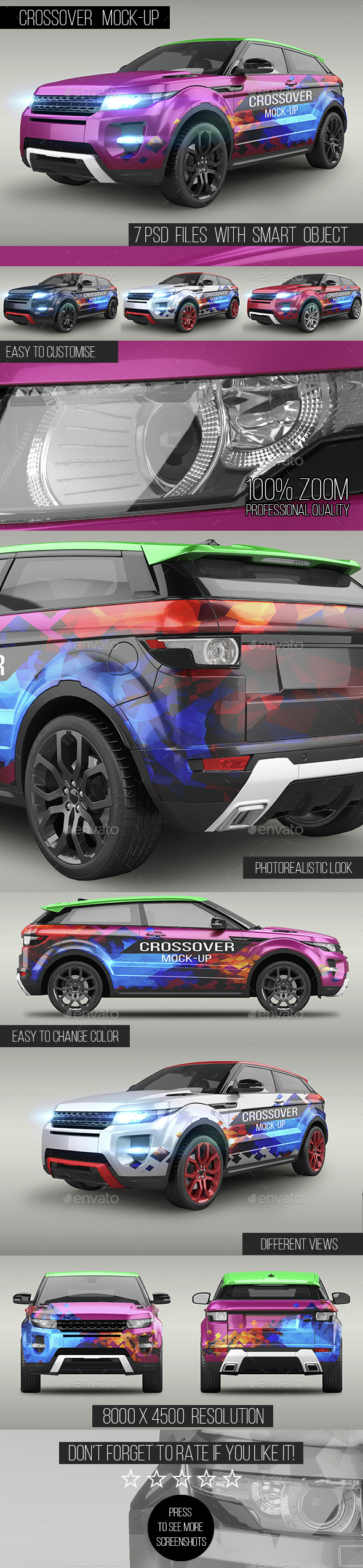 Crossover Mock-Up - Vehicle Wraps Print