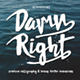 Damnright Typeface - GraphicRiver Item for Sale